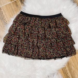 Forever 21 Tiered Floral Skirt
